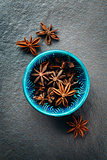 Authentic Blue Bowl Full of Anise Stars