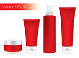 Packaging containers red