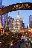 Chicago's famous riverwalk