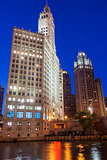 The Wrigley Building on Michigan Ave in Chicago in USA