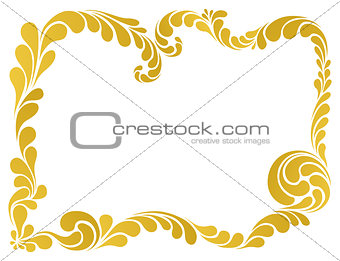 abstract ornament, golden frame