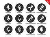 Microphone icons on white background