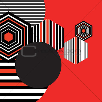 Bright geometric background