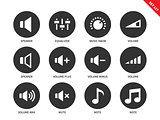 Volome icons on white background