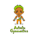 Cartoon Boy Gymnast