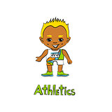 Cartoon Boy Athelete