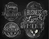 Elements business lunch chalk