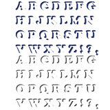 Set of  Letters. Halftone Alphabet