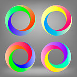 Set of Colorful Circle Icons