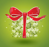 Gift bubbles hearts green