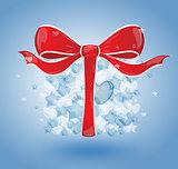 Gift bubbles hearts blue