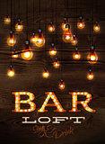 Bar loft glowing lights