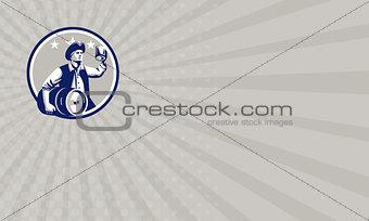 Business card American Patriot Carry Beer Keg Circle Retro