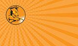 Business card Dingo Dog Welding Circle Retro