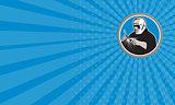 Business card Tig Welder Welding Circle Retro