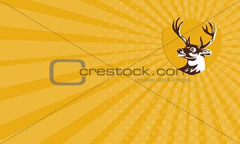 Business card Whitetail Deer Buck Head Crest Retro