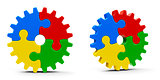 Abstract puzzle gears