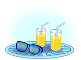 Drinks and Sunglasses
