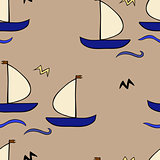 seamless sailboat pattern