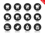 Teeth icons on white backround