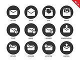 Email icons on white background