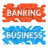 Banking Business Outline Flat Concept