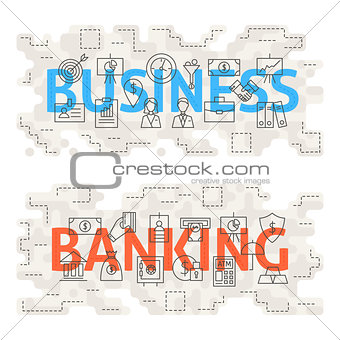 Business Banking Line Art Concept