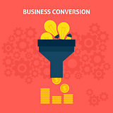 Business Conversion Flat Concept