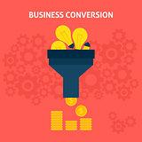 Business Conversion Flat Concept