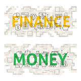 Finance Money Line Art Concept
