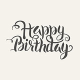 Happy Birthday Vector Handwritten Lettering