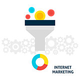 Internet Marketing Flat Concept