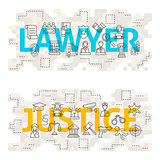 Lawyer Justice Line Art Concept