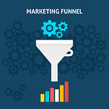 Marketing Funnel Flat Concept