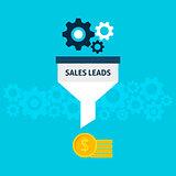 Sales Leads Flat Concept