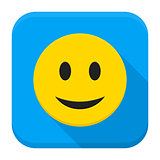 Smiling Yellow Face App Icon
