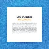 Paper Template over Law and Justice Line Art Background