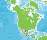 United Mexican States map
