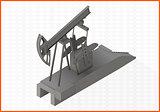 pumpjack flat vector 3d illustration