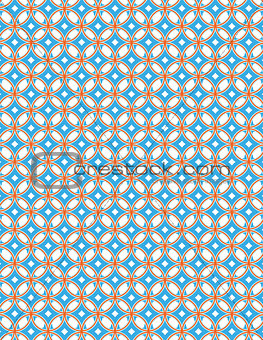 Abstract Blue and Orange Pattern Background