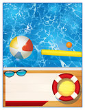 Swimming Pool Background Template