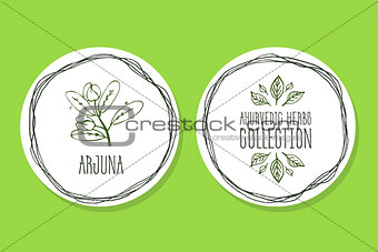 Ayurvedic Herb - Product Label with Arjuna
