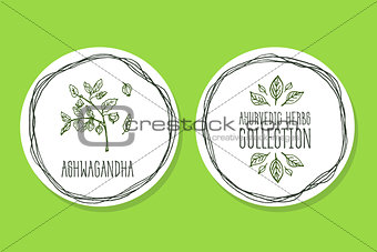Ayurvedic Herb - Product Label with Ashwagandha