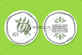 Ayurvedic Herb - Product Label with Neem