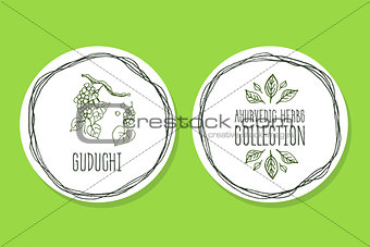 Ayurvedic Herb - Product Label with Guduchi