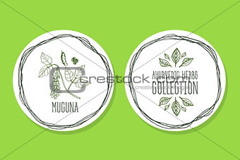 Ayurvedic Herb - Product Label with Mucuna