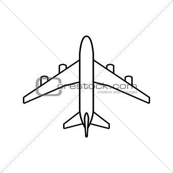 Black plane outline