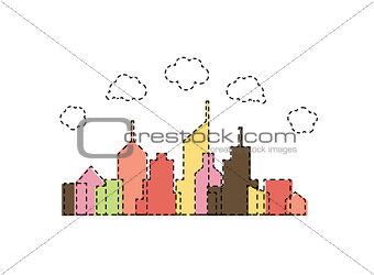 Abstract cartoon city design