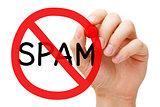Spam Prohibition Sign Concept