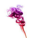 Red and purple smoke